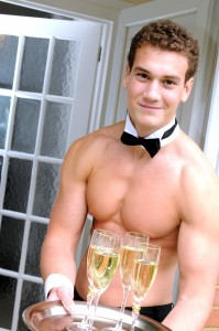 Naked Butler Champagne Breakfast