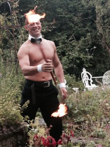 Buff Butler Who Spins Fire