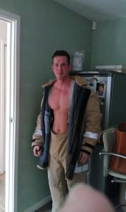Topless Fireman Butler