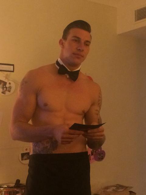 Joey Essex look a like buff butler